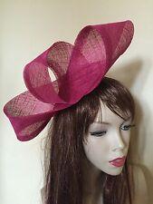 NEW Fuchsia Pink Fascinator Formal Hatinator Hairband Womens Wedding Hat Ladies