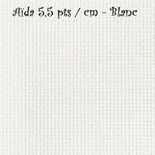 TOILE AÏDA 5,5 pts/cm - BLANC - Dimensions au choix suivant quantité Choisie