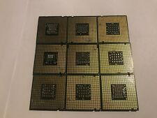 Lot of 9 Intel CPUs Used Xeon, Core 2 Duo, Pentium 4, D Processor UNTESTED PC