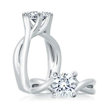 A. Jaffe 14kt white gold engagement ring style MES463