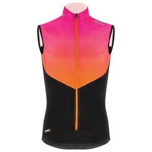 Santini Redux Genio Men's Insulated Cycling Wind Vest in Atomic Orange - Size S