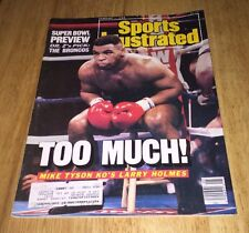 Vintage Sports Illustrated Mike Tyson KO's Larry Holmes Cover February 1, 1988