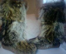 STIVALI DONNA  inverno vera pelliccia di Marmotta caldi zeppa real fur boots 36