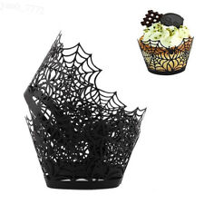 12Pcs Cupcake Wrapper Baking Cake Cups Halloween Party Spider Cake Cases Gift