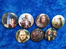 """1"""" pinback button set inspired  by """"Lord of the Rings""""  movie"""