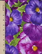 VIOLA C4457 PURPLE TIMELESS TREASURES  100% Cotton Fabric priced by the 1/2 yard