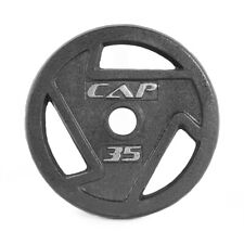 CAP Barbell 2 Inch Olympic Grip Plate Cast Iron Weights 2.5-45 lbs, Single Piece