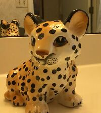 Vintage Japan Shafford Ceramic Leopard Cub Figurine Collectible