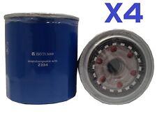 4X OIL FILTER fits Z334 DAIHATSU DELTA DIESEL V98 / V99 3L TURBO 2005-2006