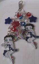hand-made handbag charm/keyring- Betty Boop -girls/ladies