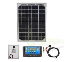 10W Pannello solare ricarica batterie KIT CON CARICABATTERIE CONTROLLER BARCA CARAVAN homek1