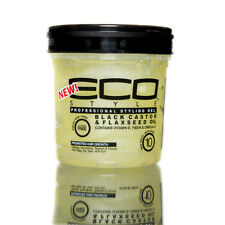 [ECO STYLER] PROFESSIONAL STYLING GEL BLACK CASTOR & FLAXSEED OIL 8OZ