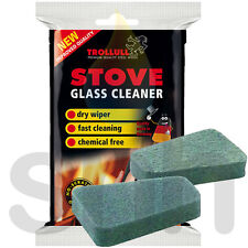 Trollull Cleaner Pads Non Scratch Pack For Stove Glass Cleaning Woodburning