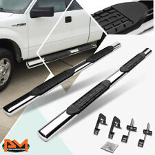For 04 14 Ford F150 Extsuper Cab Oval 4side Step Nerf Bar Running Board Chrome