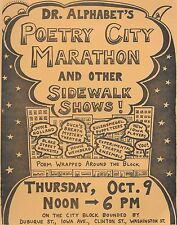 Dr. Alphabet's Poetry City Marathon and other Sidewalk Shows DAVE MORICE