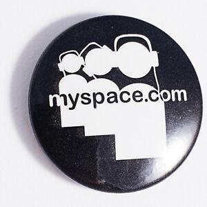 Y2K MySpace Promo Pin Badge Black & White Retro Millennium OG Memorabilia Rare