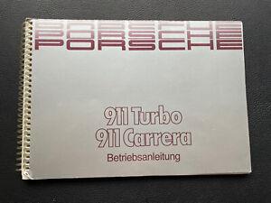 Original Porsche 911 Betriebsanleitung WKD91101089 4/89