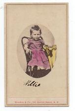 "1870 Hand Colored CDV Photo of Boy "" Willie "" Marston & Co San Francisco Photo"