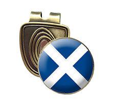 SCOTLAND FUSION CAP CLIP & MAGNETIC GOLF BALL MARKER IN BRONZE