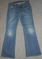 180 082 LEVIS  Damen Jeans Hose W29 Denim Ultra Low Boot 522 blau used Jeanshose