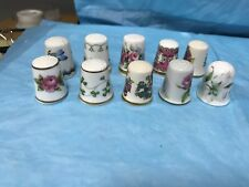 THIMBLES OF THE WORLD GREATEST PORCELAIN HOUSES---X 10-------------------ss