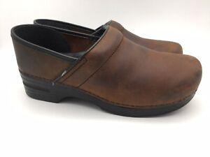 Dansko 206780202 Professional Antique Brown Leather Clogs Women Sz 42/ 11.5 - 12
