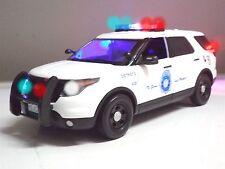 "1/18 DENVER, Colorado POLICE FORD Utility PI SUV Explorer ""WORKING LIGHTS"" SIREN"