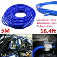 Car Engine 4mm Silicone Vacuum Tube Hose Silicon Tubing16.4ft 5M Kit Accessory L