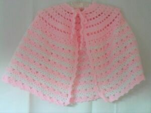 Ladies Hand Crocheted Bed Cape