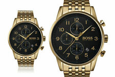 New Men's Hugo Boss Gold Navigator Chronograph Watch HB1513531