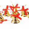 9pcs Gold Bells Christmas Tree Hanging Decoration Home Party Pendants Ornaments