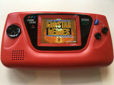 Sega Game Gear RARE Red Japan-only, Retrosix CleanScreen, Recapped NOT REPLICA
