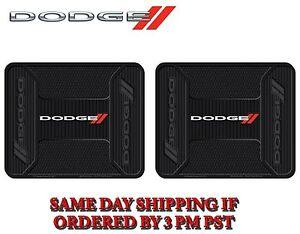 2 PC Dodge Elite Rear Rubber Utility Floor Mats Heavy Duty Same Day Shipping