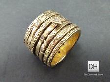 Woman Wedding Band Diamonds Size 6.5 14K Yellow Gold Seven 7 Blessing Jewish