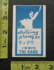 ROLLING STONES,Original Vintage cloth Backstage pass,1981 tour