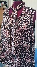 NWOT AVA  & VIV Floral Bow Blouse Top Shirt Sleeveless Multicolor 3X