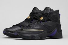 $200 NIKE LEBRON JAMES XIII 13 POT OF GOLD 807219-007 SZ 13 BLACK GOLD PURP