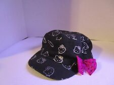 0cdfa5198 Girls Children Hello Kitty Black /Silver with Pink Bow Hat Cap One Size  Adorable