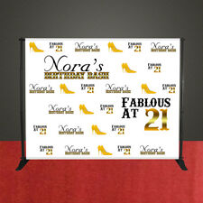 Birthday event banner party backdrop 7' x 7' FABULOUS BIRTHDAY BANNER GOLD