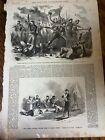 Antique 1861 Civil War Newspaper Page Battle Bull Run Soldiers Illustrations