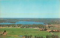 Postcard Webster Lake, North Webster, Indiana