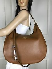 NWT COACH BROWN PEBBLED LEATHER HOBO SHOULDER TOTE CROSSBODY HANDBAG PURSE