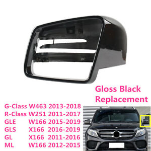 Fit For Benz G-Class W463 ML GLE W166 Left Side Rearview Wing Mirror Cover Black