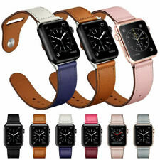 For Apple Watch Band Series 5/4/3/2/1 38/42mm 40mm/44mm Leather iWatch Strap