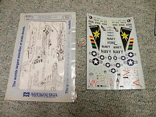 Microscale  decals 1/72 72-332 Carrier Air Wing 7 F-4J F-9F2 a-7E partial   N37