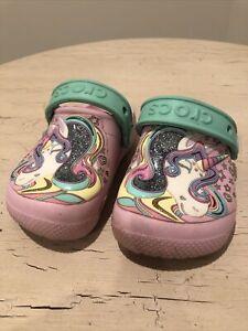 Crocs Original Unicorn Pink Toddlers Child Size 8 CUTE!