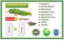 Phyllanthus niruri Chanca Piedra Herbal Tablets Kidney/Liver/Digestion - 200Tabs