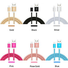 2m Braided Micro USB Cable Fast Charger Data Lead for Samsung HTC Android Phone