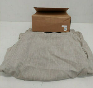 Pottery Barn Kids: Comfort Ottoman Slipcover Solid Washed Grainsack Flax - New-