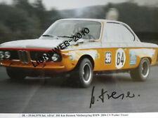 Autogrammfoto Walter Treser BMW 2800 CS Grossfoto mit original Unterschrift #04